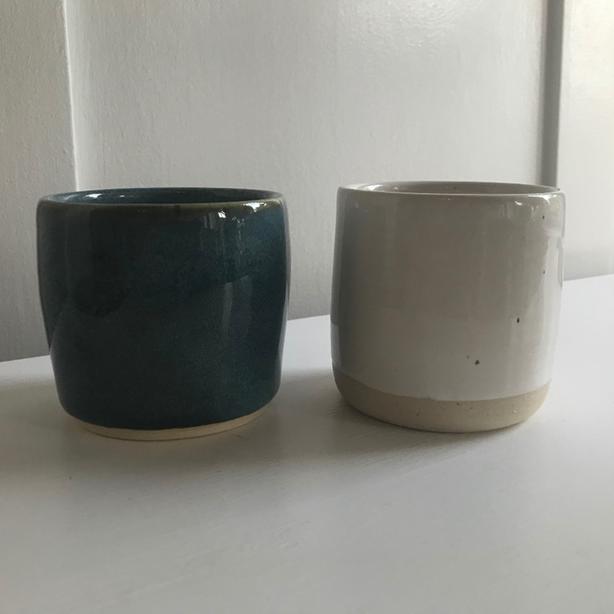 handmade pottery - tumblers