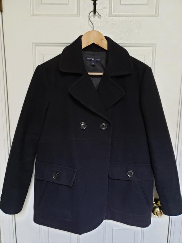 LikeNewWarm Wool GAP Jacket Size L InStylishDarkNavyBlueColor W/DeluxeLining