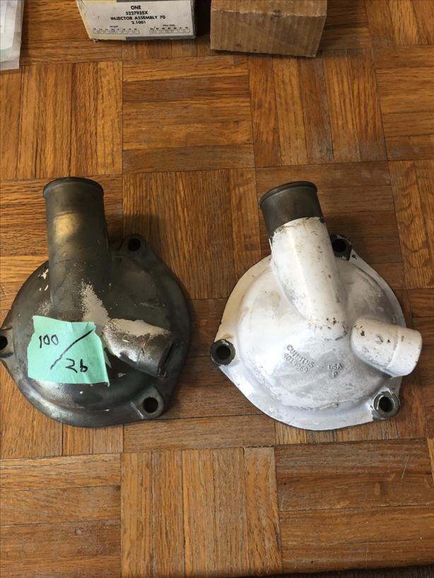Cummins bronze aftercooler end caps