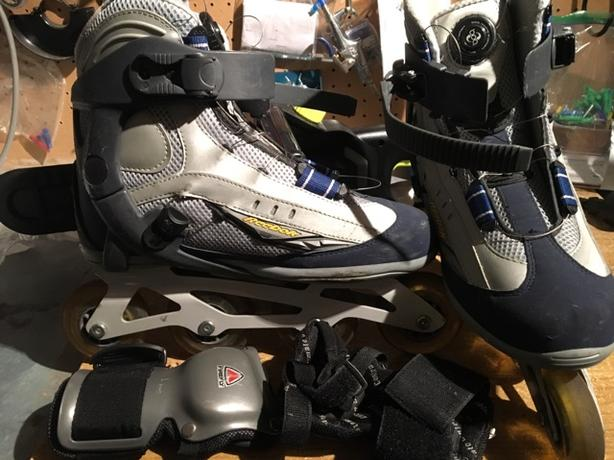 Rollerblade Reebok size 10 + protection for the risk/hand