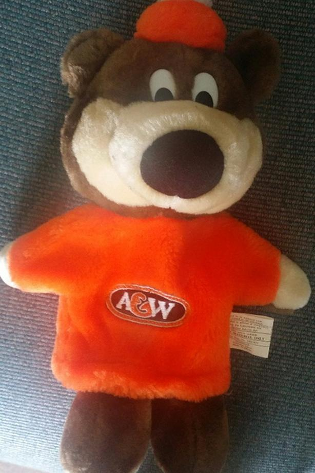 Vintage A&W Root Beer Bear Puppet