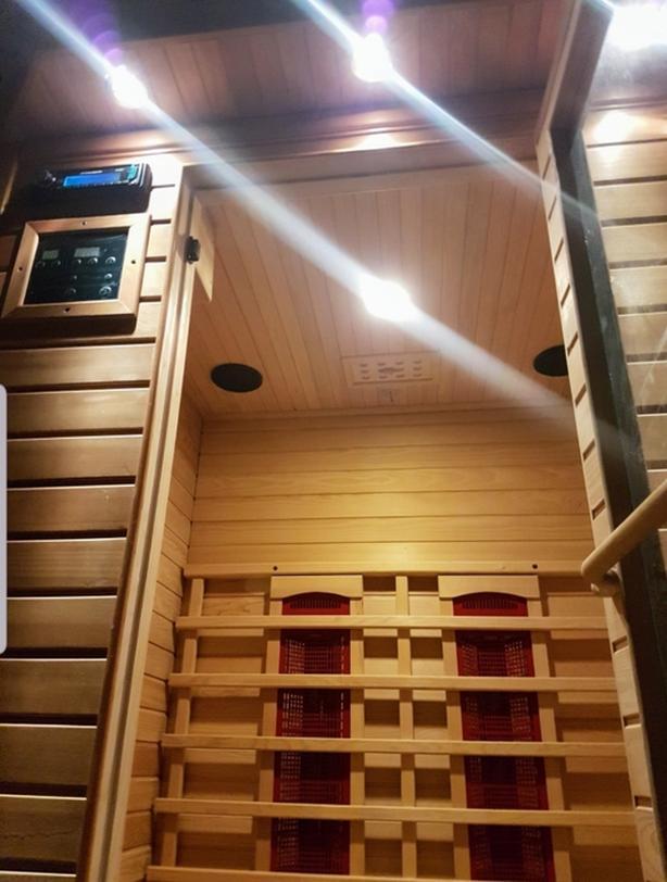 All Cedar 3 Person Portable Sauna.