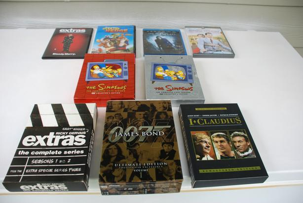 9 DVDs For Sale - Movies & TV Series Assorted (mint condition)