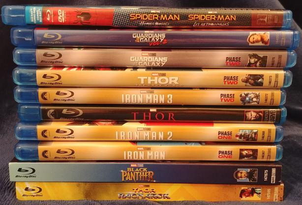 Marvel Cinematic Universe (MCU) Blu-ray Movies $10 each