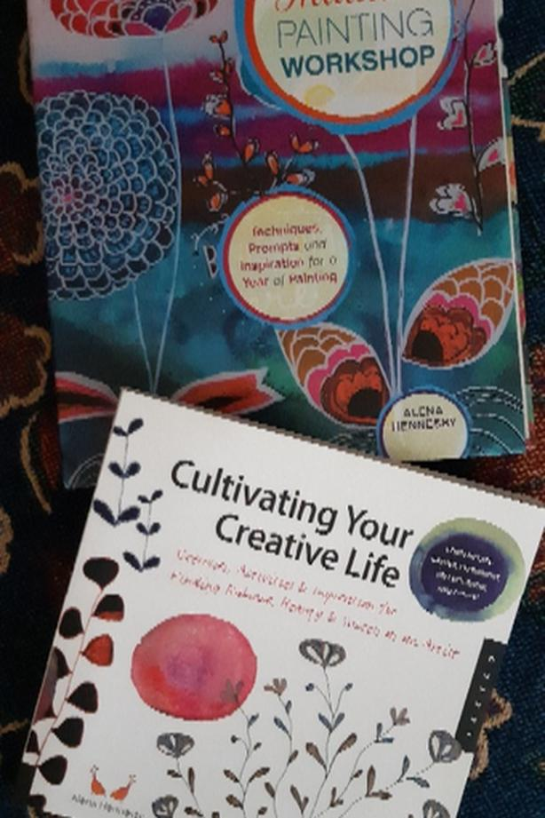 Intuitive Painting workshop and Creative Life Art Books