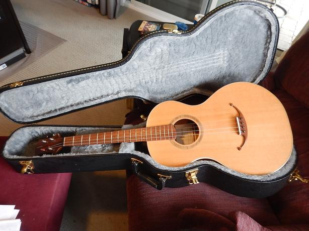Nylon string Tenor guitar made by Lone Tree Guitar DGBE tuning