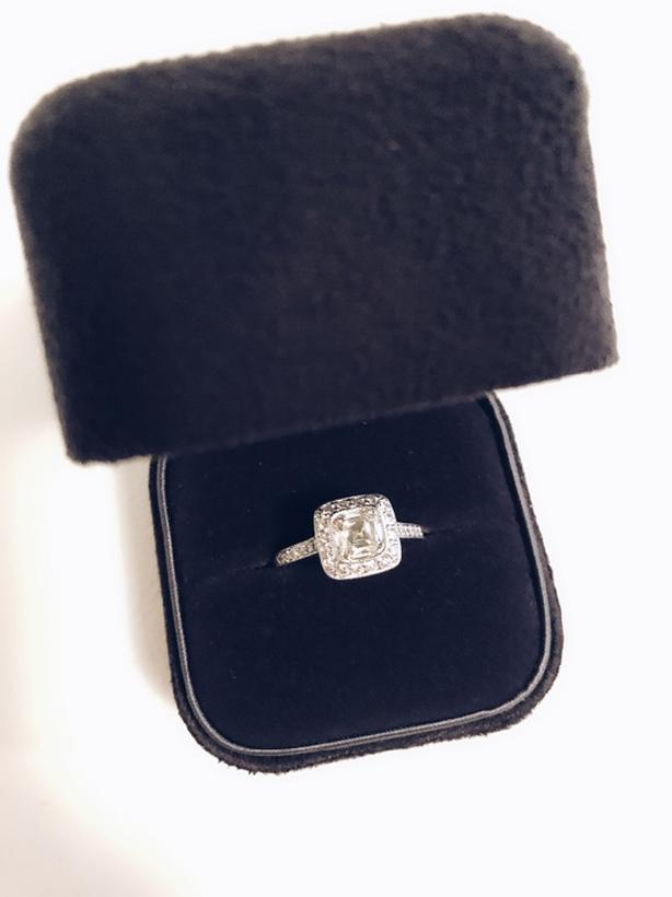 Tiffany and Co. Legacy diamond engagement ring