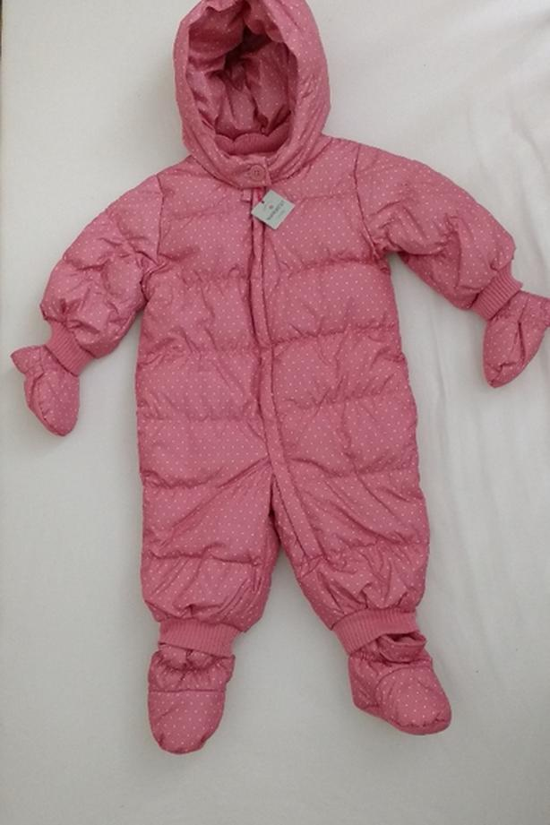 New! Down Fill Snowsuit, Mittens and Booties Set by Baby Gap