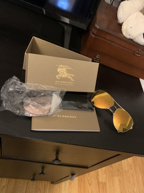 New Burberry avaitor sunglasses