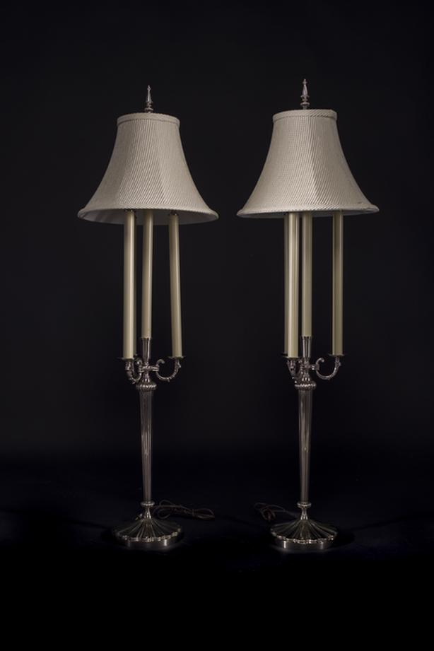 """Two 48"""" designer table lamps"""
