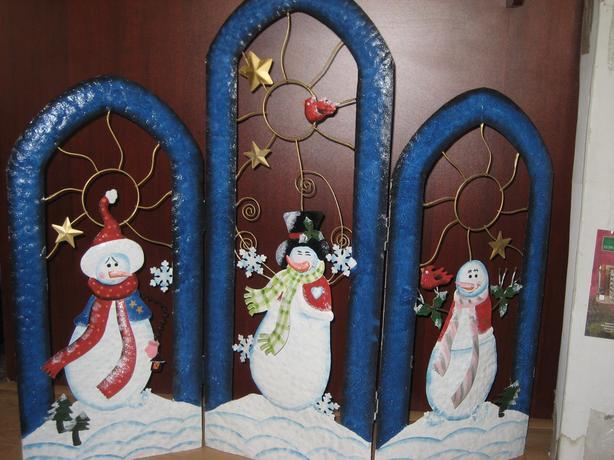 Christmas fire screen  or Santa and reindeer