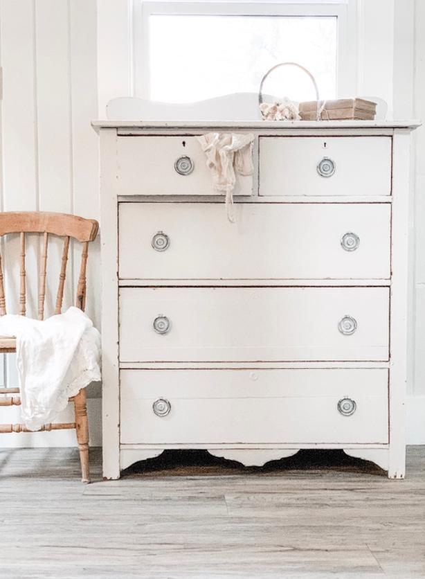 🌸Gorgeous Antique Dresser Shabby Chic Chest Of Drawers