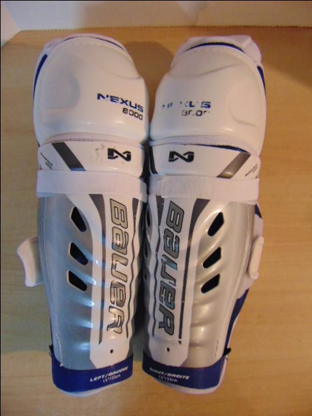 Hockey Shin Pads Child Size 13 inch Bauer Nexus 8000  Calf Wrap As New