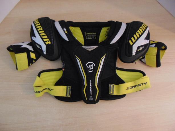 Hockey Shoulder Chest Pad Child Size Junior Large Warrior Black Yellow