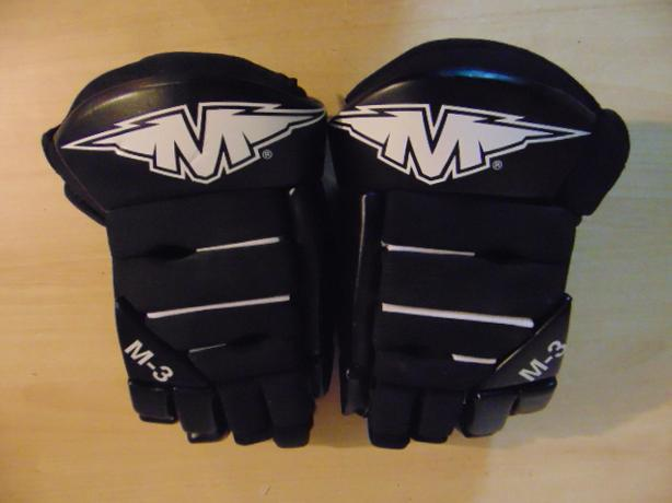 Hockey Gloves Men's Size 14 inch Mission M3 Black White Excellent