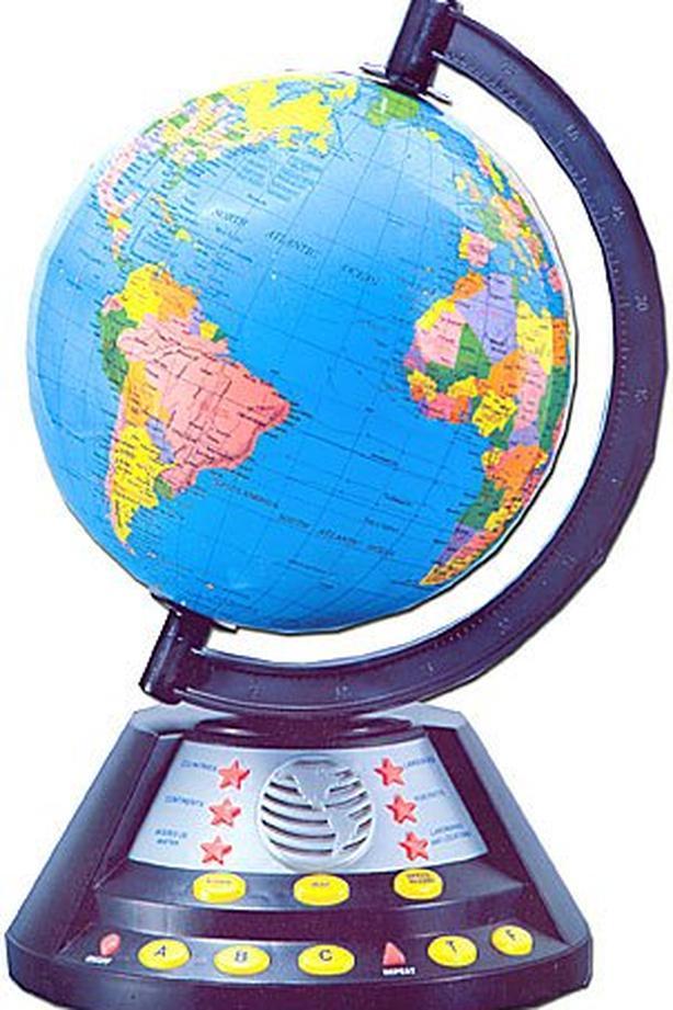 World Atlas Interactive Globe #130 Hong Kong 2003 Learn Geography Quiz Countries