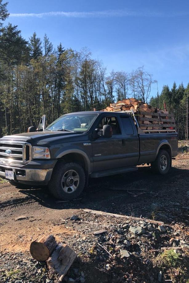 firewood, dry seasoned fir and cedar cut split and delivered