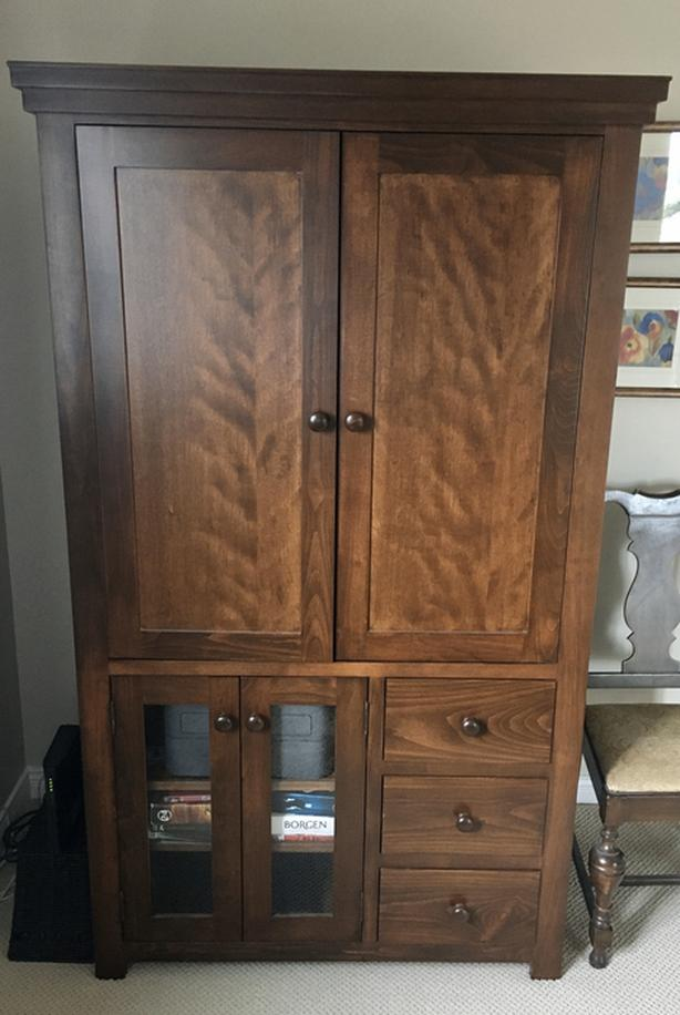 Solid Maple TV Cabinet Reduced for the last time