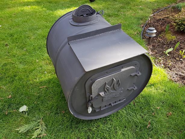 45 gal drum wood stove