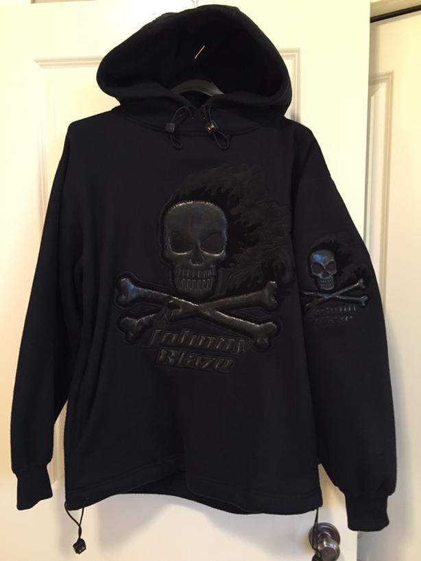 Johnny Blaze (Ghost Rider) Black Skull Heavy Vintage Hoodie