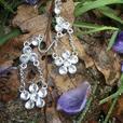 Wild Winter Strawberry Bloom drop earrings