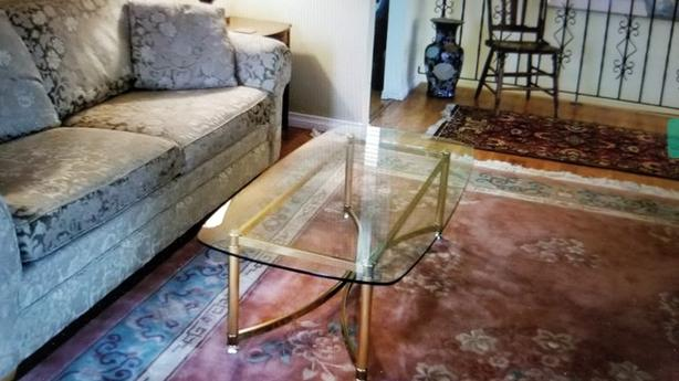Nicely designed Brass and glass coffee table