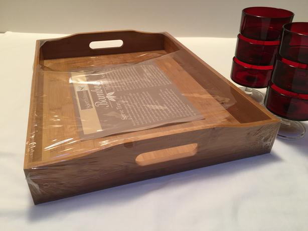 New Bamboo Serving Tray