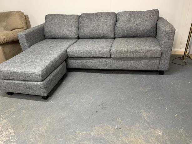 Modern grey sectional sofa