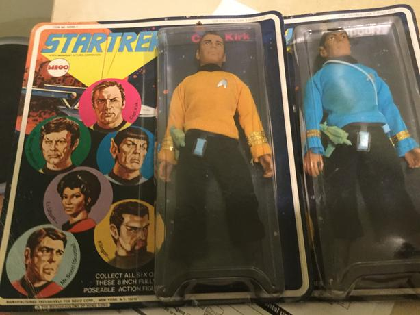 Original 70s kirk and Spock mint in box