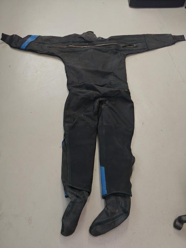 Vintage Dry Suit - Insulated Onesie - Flippers