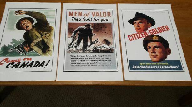 Set of FIVE (5) World War 2 Canadian Military recruitment posters.