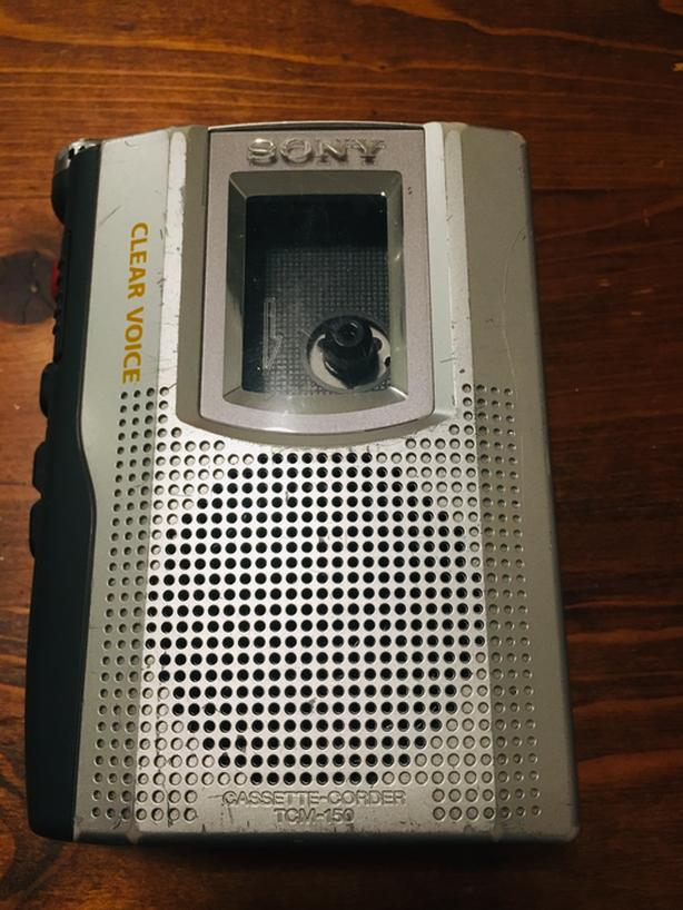 Vintage Sony TCM-150 Standard Cassette Voice Recorder - working