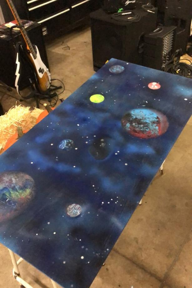 Galaxy Themed Coffee Table