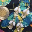 Angel's Trumpet tear drop earrings
