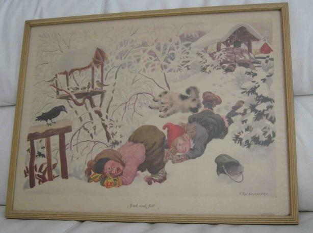 Nursery rhyme prints by Feodor Rojankovsky.