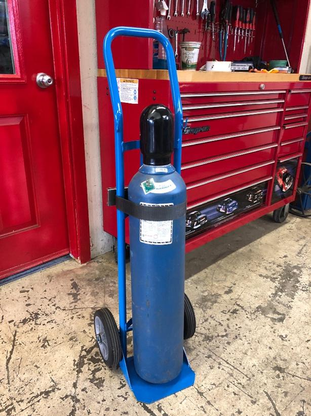 80 Cubic Foot MIg Welding bottle with Cart