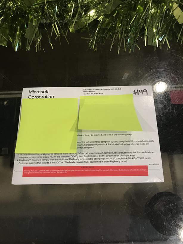 BRAND NEW FACTORY SEALED Microsoft Windows 10 Home 64 Bit Install Disc!