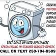 ⭐⭐STACKED and STACKABLE washer dryer sets VICTORIA⭐⭐