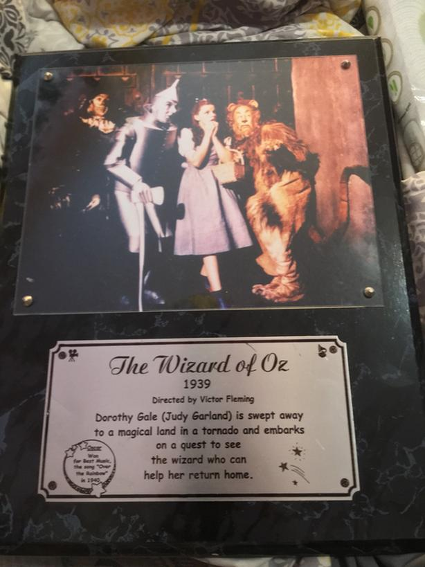 Wizard of Oz plaque PRICE DOWN!