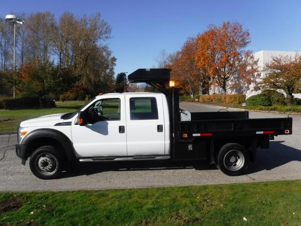 2011 Ford F-550 Dump Box Crew Cab Dually 2WD with Roller