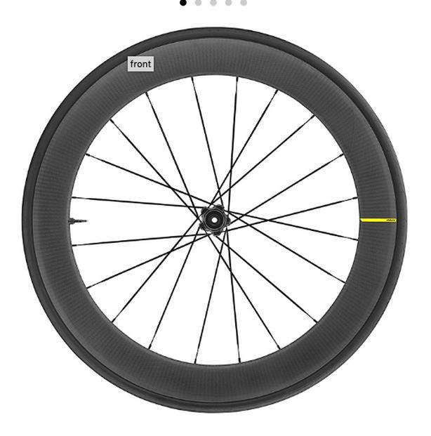 Carbon Road Wheels.  Mavic Comete Pro Carbon SL UST Disc