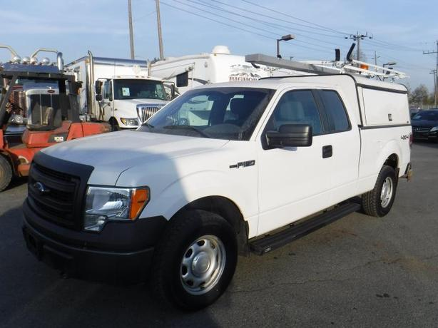 2014 Ford F-150 XL 6.5-ft. Bed 4WD with Canopy and Ladder Rack