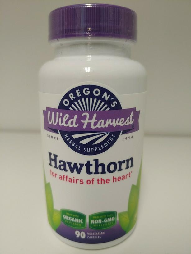 New Oregon Wild Harvest Hawthorn 90 Vegetarian Capsules - $12