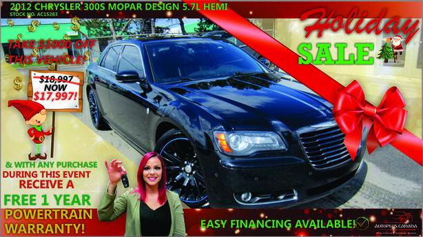 2012 Chrysler 300S MOPAR DESIGN 5.7L HEMI - On Sale Now !!