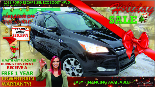 2013 Ford Escape SEL EcoBoost 4WD - On Sale Now !