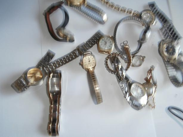 collection of hand watches