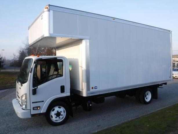 2016 Isuzu NPR 18 Foot Cube Van Diesel with Ramp Plus 4 Foot Attic