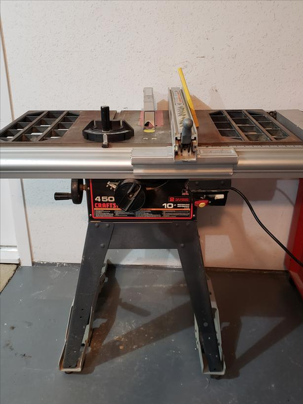 "Sear 10"" Table saw with Laser Line Fence"