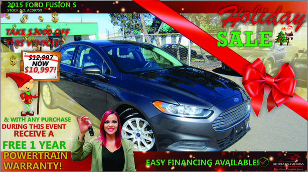 2015 Ford Fusion S - On Sale Now !
