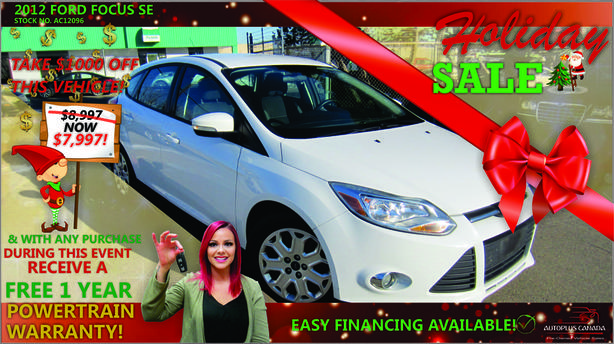2012 Ford Focus SE - On Sale Now !